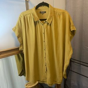 Madewell Central Drapey Shirt Olive